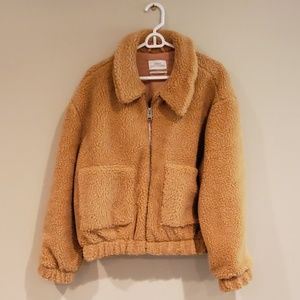 Urban Outfitters Cropped Teddy Jacket